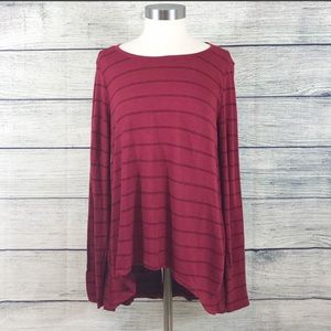 NWT Michael Stars Lolita Long Sleeve Striped Top